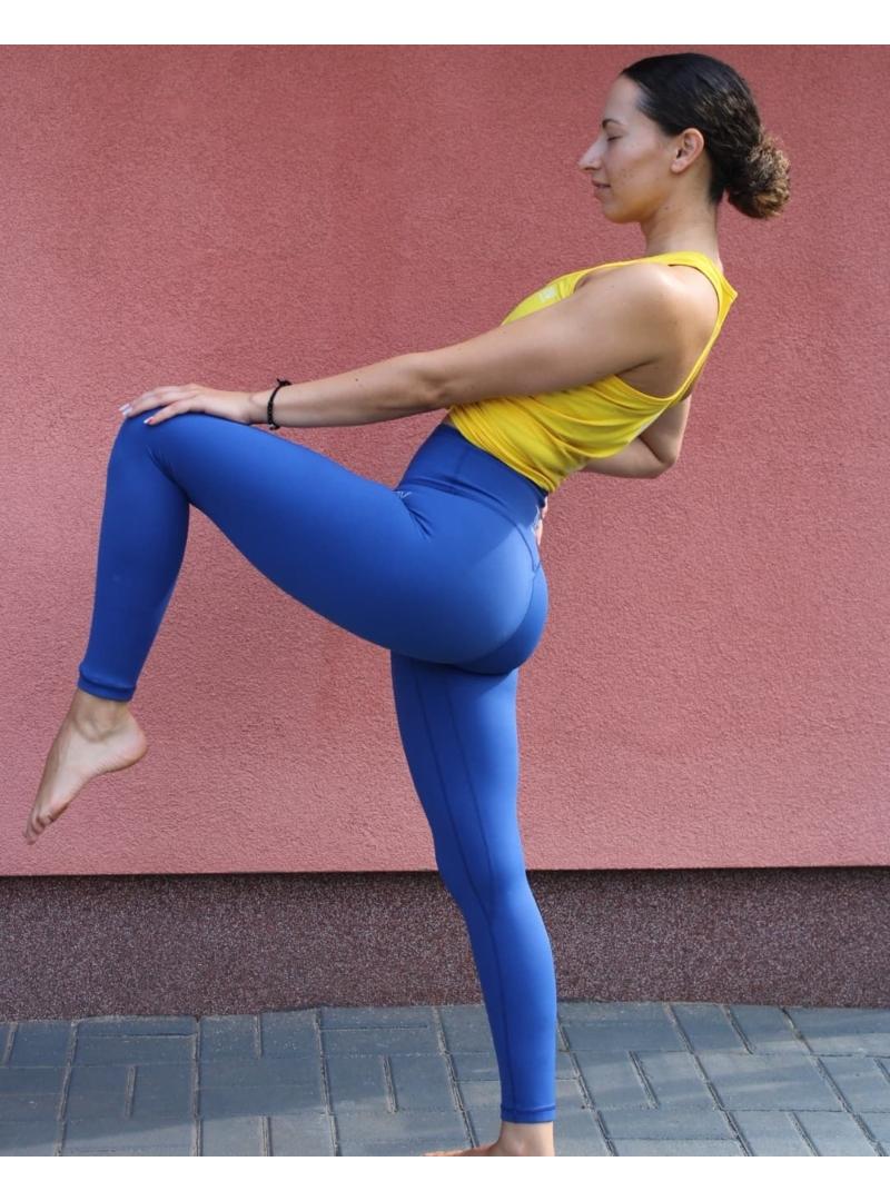 Kek -  fitness - leggings - ujrahsznositott