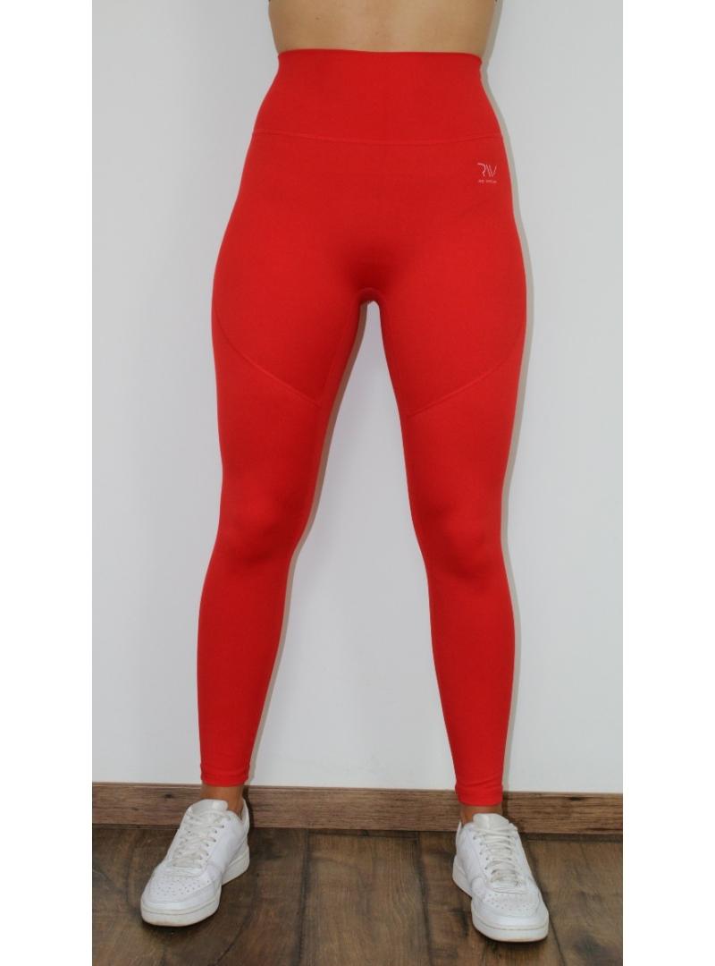 újrahasznosított piros fitness leggings
