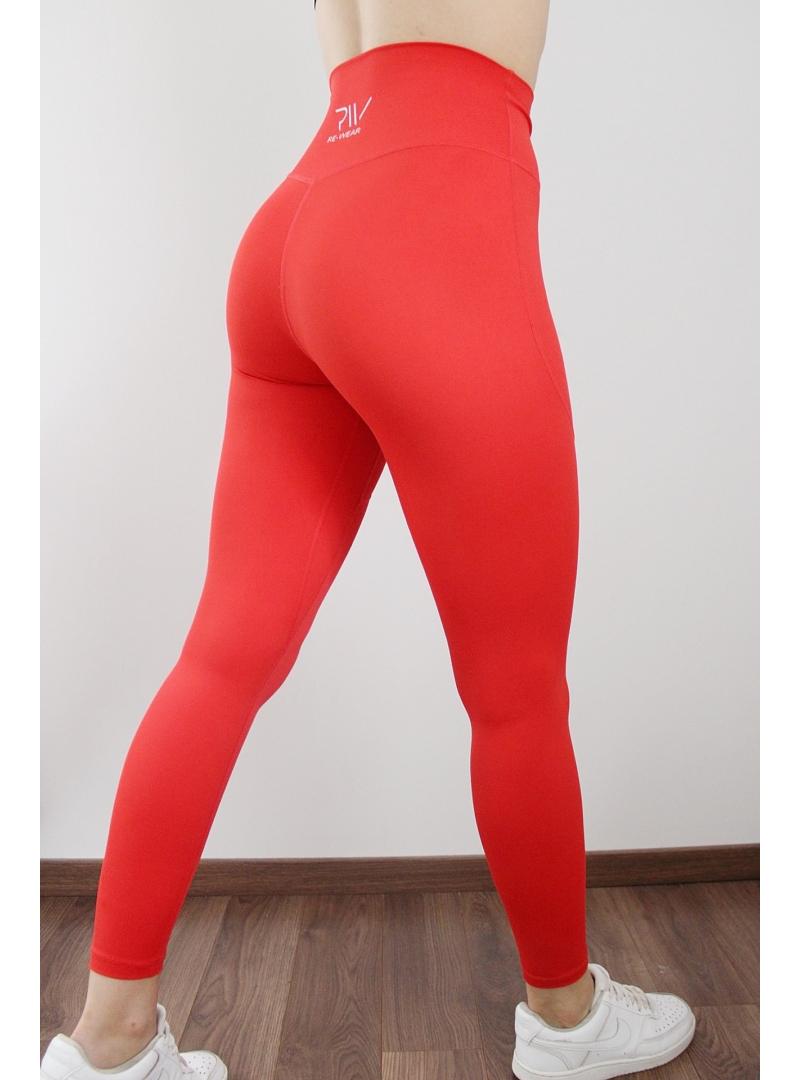 piros fitness nadrág